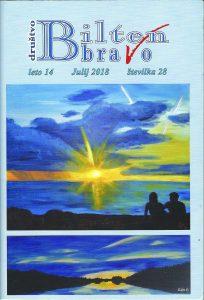 Naslovnica Biltena društva Bravo – format A5, modre barve.