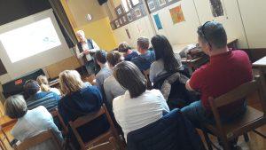 Udeleženci na predavanju Marka Juhanta.