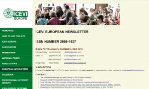 Posnetek spletne strani ICEVI, kjer je vidna objava prispevka.